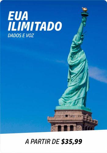 EUA ilimitado dados voz Yes Brasil viaje conectado